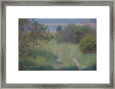 Path To The Sea - Duxbury Ma Framed Print