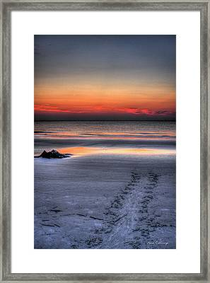 Path To The Sea Jekyll Island Sea Turtle Art Framed Print