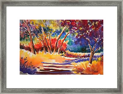 Path To Wonderful Framed Print by Therese Fowler-Bailey
