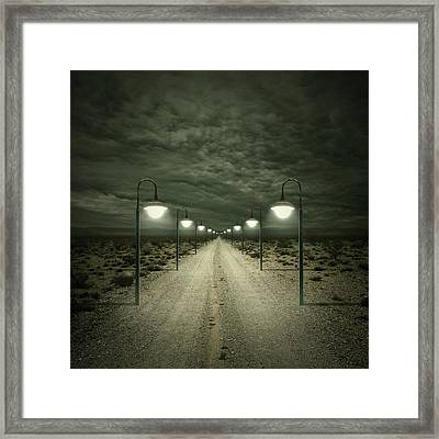 path framed print by zoltan toth