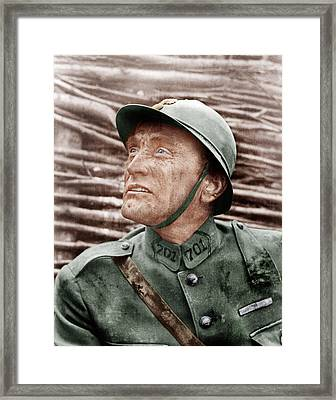 Paths Of Glory, Kirk Douglas, 1957 Framed Print