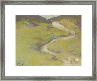 Pathway In A Field, 1890 Framed Print by Edgar Degas