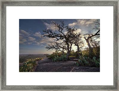 Framed Print featuring the photograph Pathway On Top Of Enchanted Rock by Todd Aaron