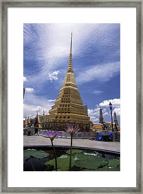 Pathway Through Ancient Buddhist Framed Print by Richard Nowitz