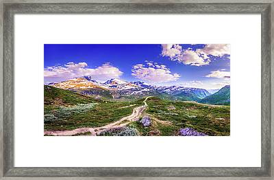 Framed Print featuring the photograph Pathway To A Valley by Dmytro Korol