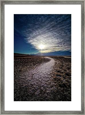 Pathway To Death Valley  Framed Print by Bryan Moore