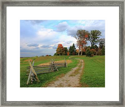 Pathway To Fall Framed Print