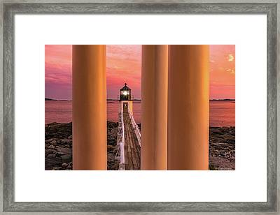 Marshall Point - Beacon Of Light Framed Print by Thomas Schoeller
