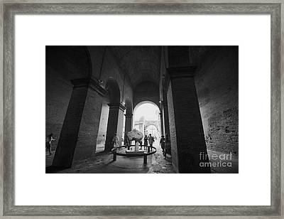 Pathway To History In Rome Framed Print by Alanna DPhoto