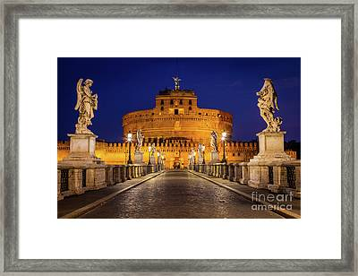 Pathway To Sant'angelo Framed Print by Inge Johnsson