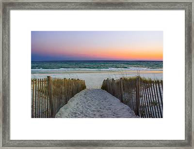 Pathway To Sunset - Seaside, Fl Framed Print by Shelby Young