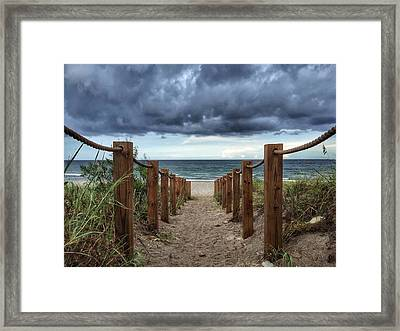 Pathway To The Clouds Framed Print