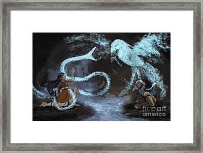 Pathways - Shaman Battle Framed Print
