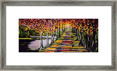 Pathyway To The Light Framed Print by Kathleen Sartoris