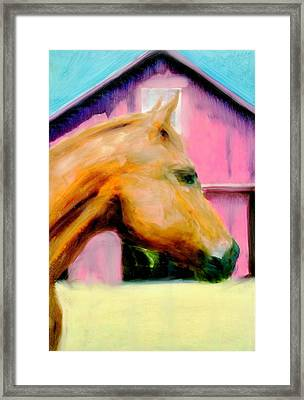 Framed Print featuring the painting Patience by FeatherStone Studio Julie A Miller