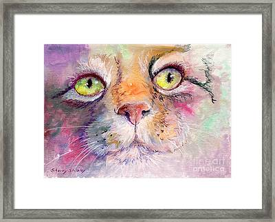 Patience Framed Print by Sherry Shipley