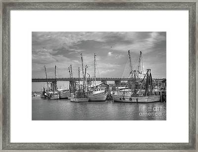 Patience Tybee Island Shrimpers Art Framed Print