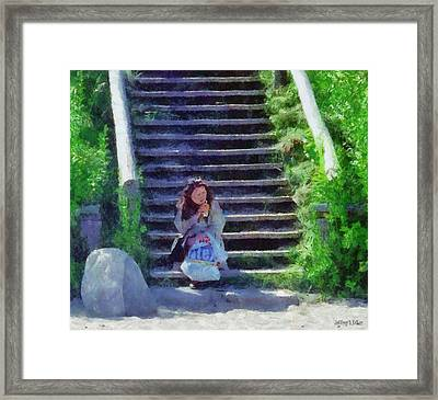 Patiently Waiting Framed Print by Jeff Kolker
