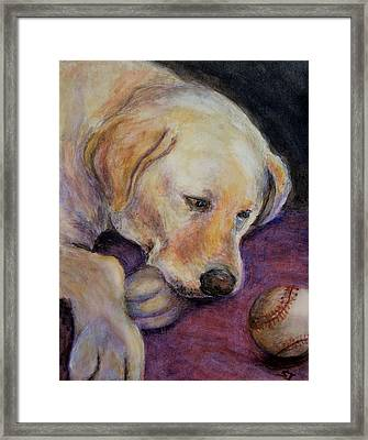 Patiently Waiting Framed Print by Susan Jenkins