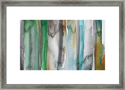 Patina- Abstract Art By Linda Woods Framed Print