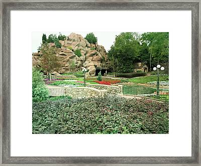 Framed Print featuring the photograph Patina Green Flower Garden Walkway by Aimee L Maher Photography and Art Visit ALMGallerydotcom