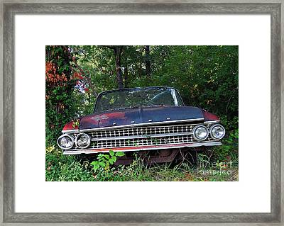 Patina On Route 66 Framed Print by Brenda Priddy