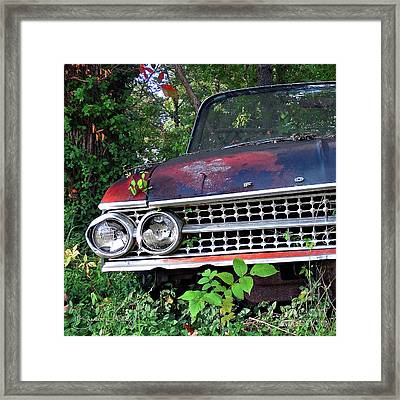Patina On Route 66 - Square Framed Print by Brenda Priddy
