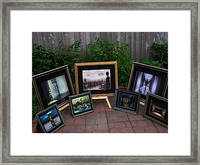 Patio Art Show Framed Print