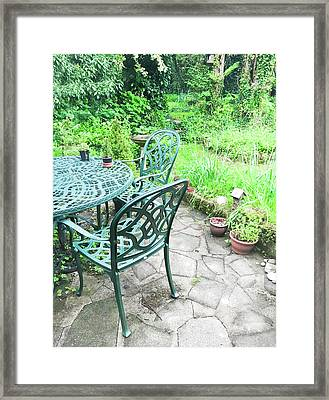 Patio Furniture Framed Print by Tom Gowanlock