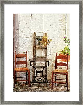 Patio Framed Print by HD Connelly