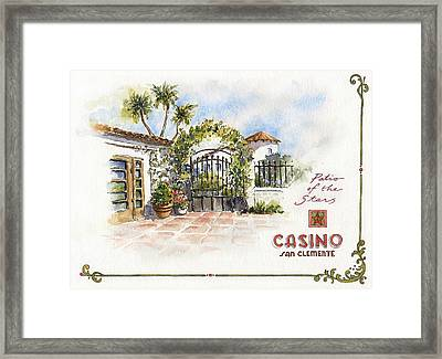Patio Of The Stars At The Casino Framed Print