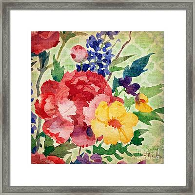 Patio Peony I Framed Print by Paul Brent