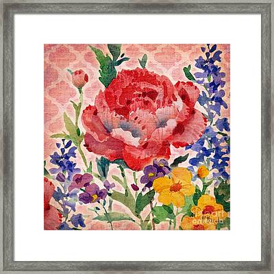 Patio Peony II Framed Print by Paul Brent