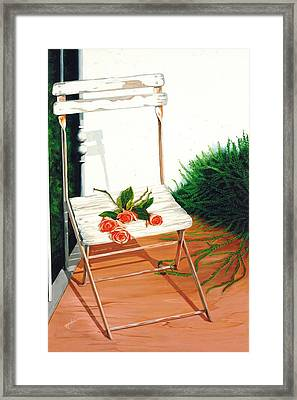 Patio Rose, Prints From Original Oil Paintings Framed Print