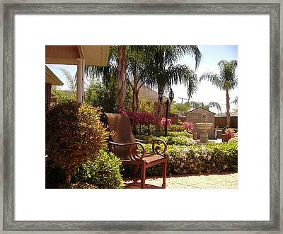 Patio View Framed Print