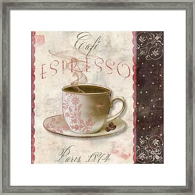 Patisserie Cafe Espresso Framed Print