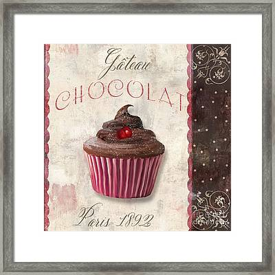 Patisserie Chocolate Cupcake Framed Print by Mindy Sommers