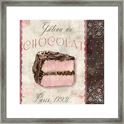 Patisserie Gateau Au Chocolat Framed Print by Mindy Sommers