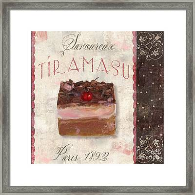 Patisserie Tiramasu  Framed Print by Mindy Sommers