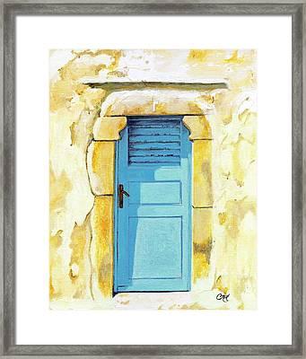 Patmos Door Framed Print