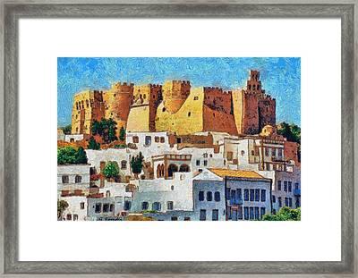 Patmos Framed Print by George Rossidis
