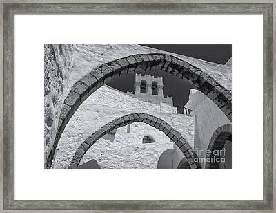 Patmos Monastery Arches Framed Print