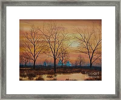 Patomac River Sunset Framed Print