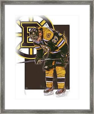 Patrice Bergeron Boston Bruins Oil Art 2 Framed Print