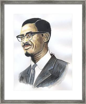 Patrice Emery Lumumba Framed Print