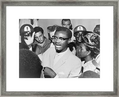 Patrice Lumumba 1925-1961 Speaking Framed Print