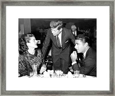 Patricia Kennedy Lawford, John F Framed Print by Everett