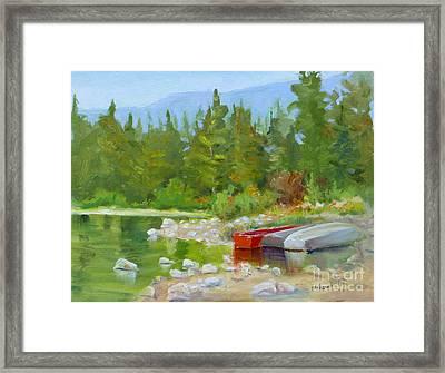 Patricia Lake, Jasper Framed Print by Mohamed Hirji