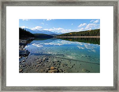 Patricia Lake Framed Print by Larry Ricker