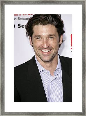 Patrick Dempsey At Arrivals For Greys Framed Print by Everett